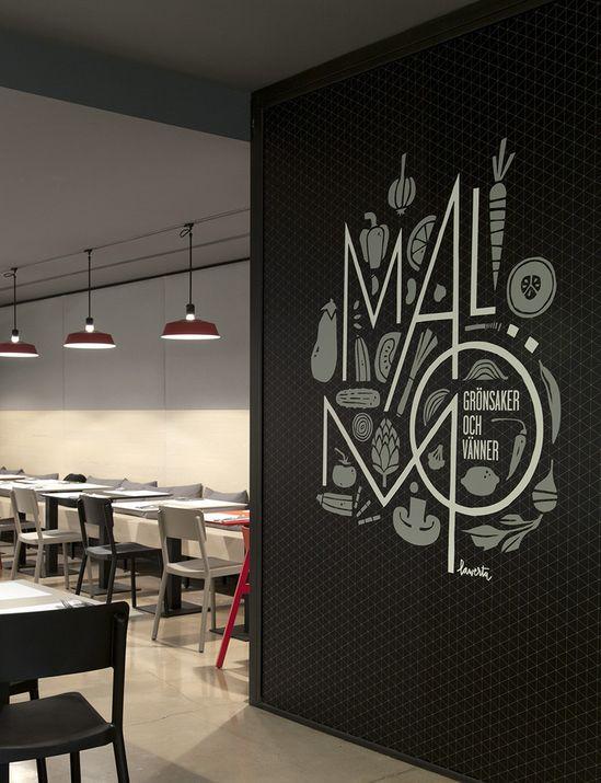 Wall graphics at Mal