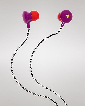 kate spade new york Headphones - Signature Spade Earbuds