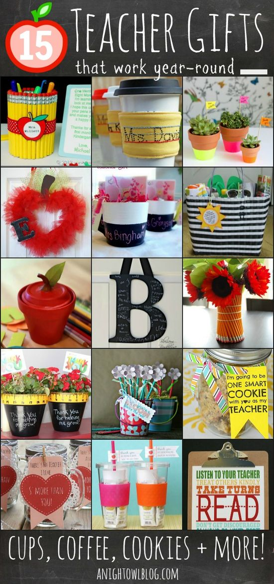 15 Fun Teacher Gift Ideas #teacher #gifts #school
