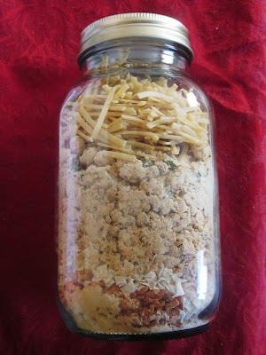 Food storage in mason jars.