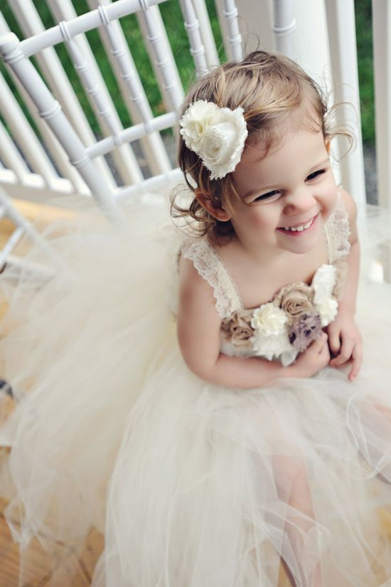 TUTU FLOWER GIRL Dress The Hayden dress size by TulleTutuBoutique, $85.00