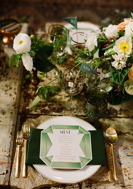 creative wedding menu by Prim and Pixie and La Boheme Events