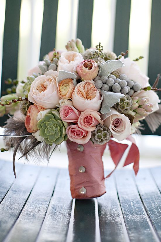 Wedding Flowers... what fun textures!