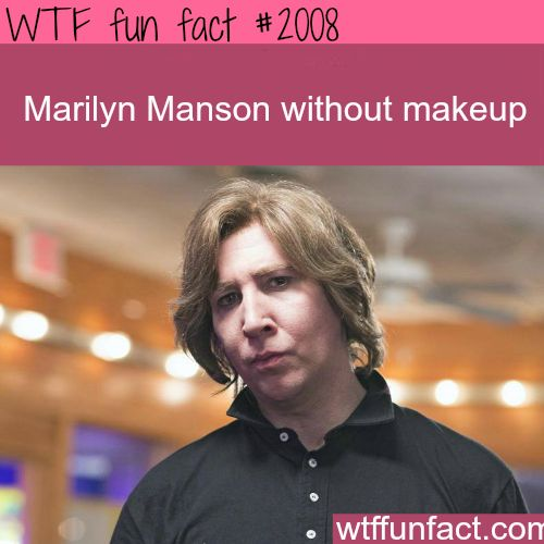 Marilyn Manson Without Makeup - WTF fun facts