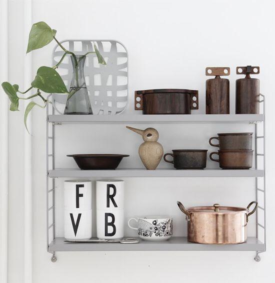 Scandinavian shelf styling