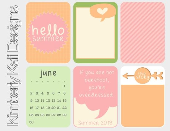 Free printable journaling cards, perfect for Project Life or other scrapbooking projects.