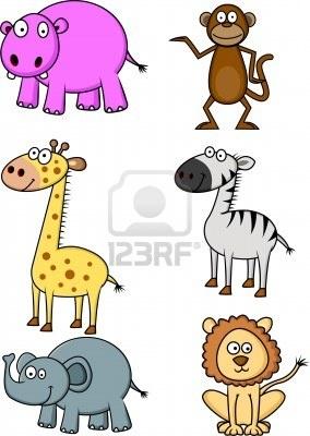 wild animal cartoon Stock Photo