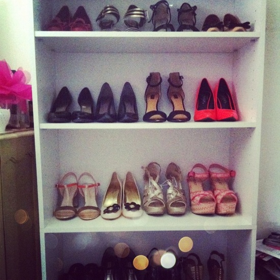 organizing my shoe collection
