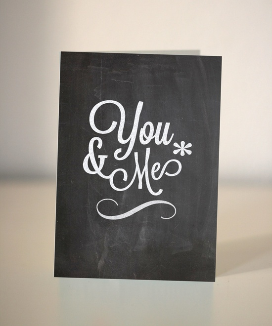 This chalkboard-style Valentine is totally lovable.