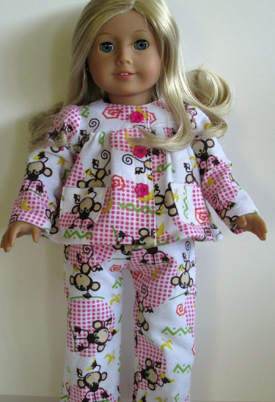 American Girl Doll Clothes  2 PC Flannel by EverythingNice4Dolls, $20.00