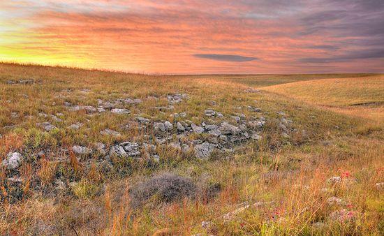 Warm Fall Sunrise by Kevin Sink. Kansas Flint Hills.