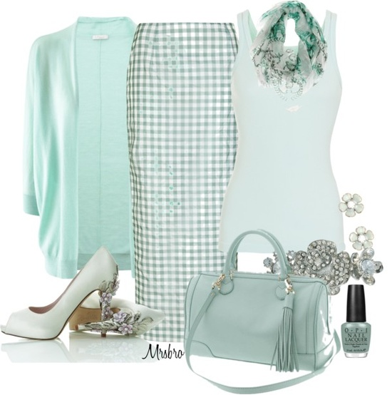 """Mint ..."" by mrsbro ❤ liked on Polyvore"