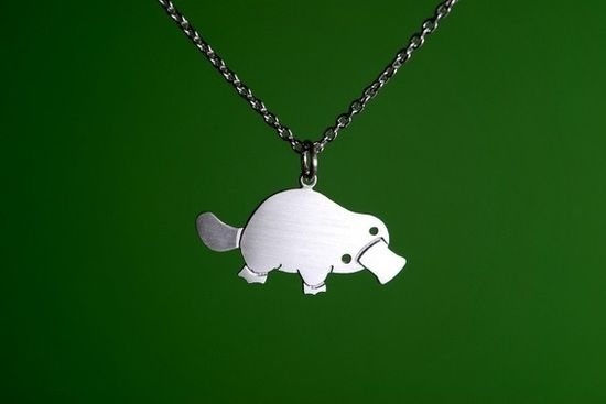 Platypus jewelry? Yes please.
