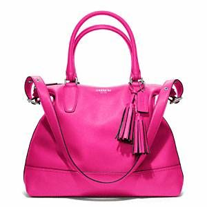 Coach - Legacy Leather Rory Ns Satchel Sv/fuchsia