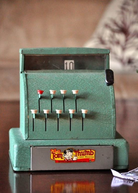 "Toy Cash Register ...a ""Tom Thumb""!  Had when I was a kid."