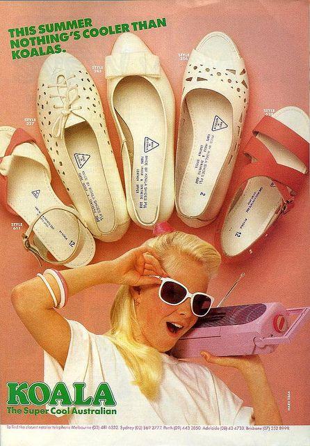 Dolly magazine, 1987 : Koala Shoes. #vintage #1980s #nostalgia #fashion