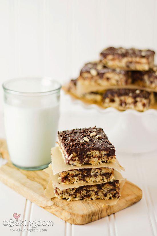 chocOlate caramel crispy treats