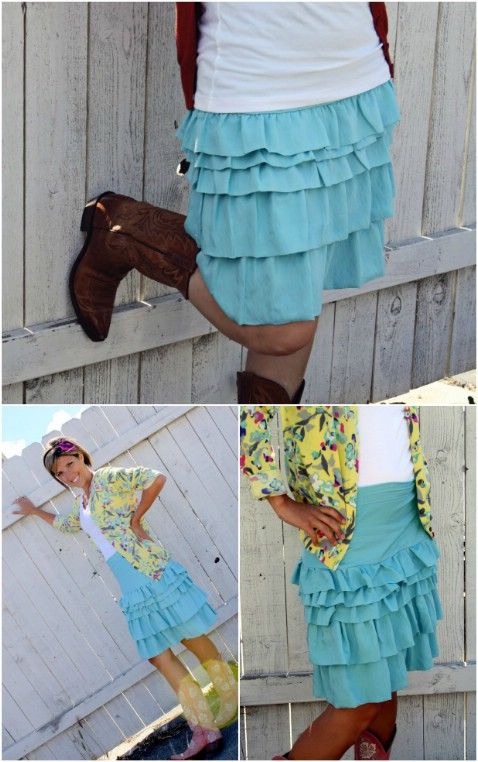 15 DIY Skirts Ideas For Crazy Summer, DIY The Ruffle Equation