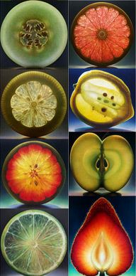 Fresh Fruit cross section beautiful Photography