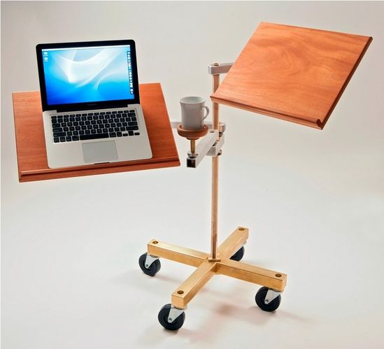 this cool sit-down or stand-up laptop desk.