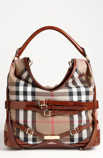 Burberry 'House Check' Hobo