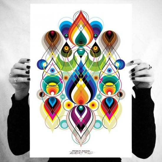 Amazing colorful graphic poster print.