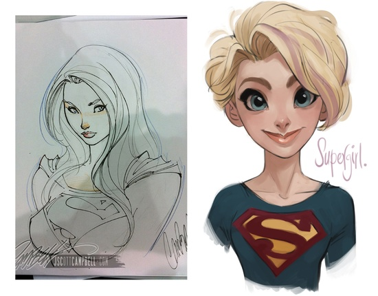 Supergirl Cartoon Character