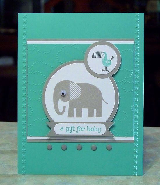 Stampin Up Zoo Babies  A Gift For Baby Card by WhimsyArtCards, $4.25
