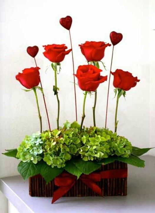 Rose hydrangea trough