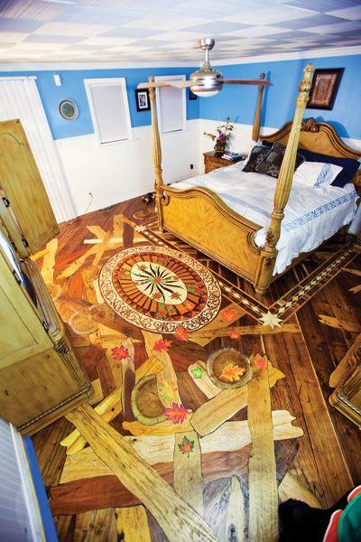 Reclaimed hardwood #floor #design