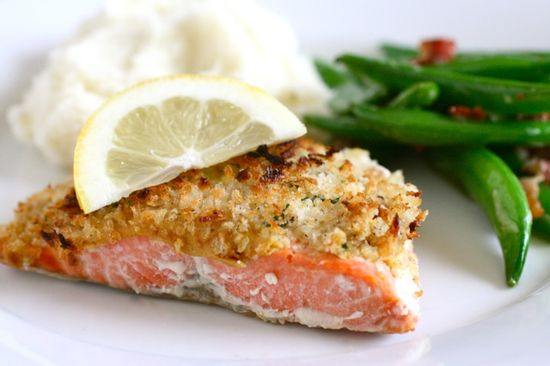 Panko Crusted Salmon by annieseats: Quick, tasty and healthy.  #Salmon #annieseats