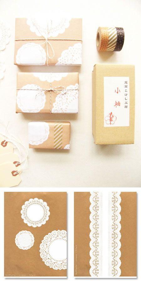 kraft paper!!!  love love love.