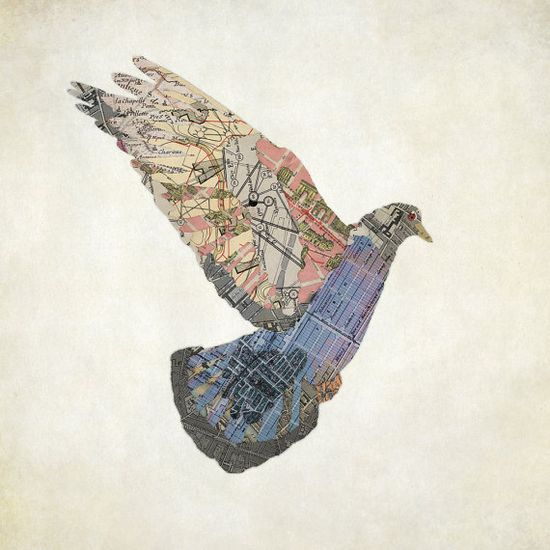 Le Pigeon de Paris by laferrera on Etsy, $50.00