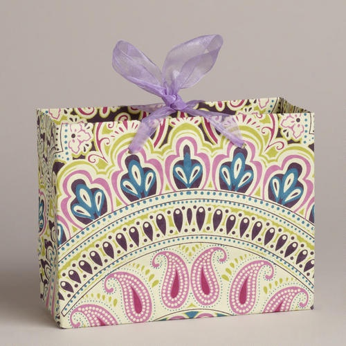 One of my favorite discoveries at WorldMarket.com: Small Fuchsia Venice Arch Handmade Gift Bag