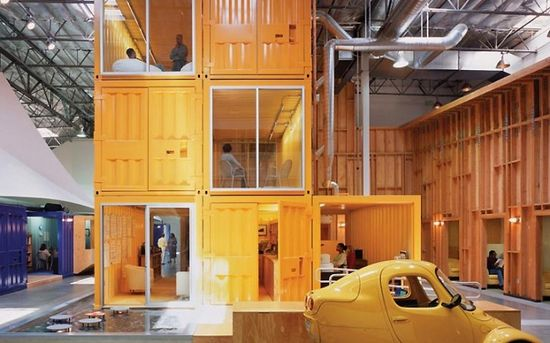 Cargo containers in offices office design