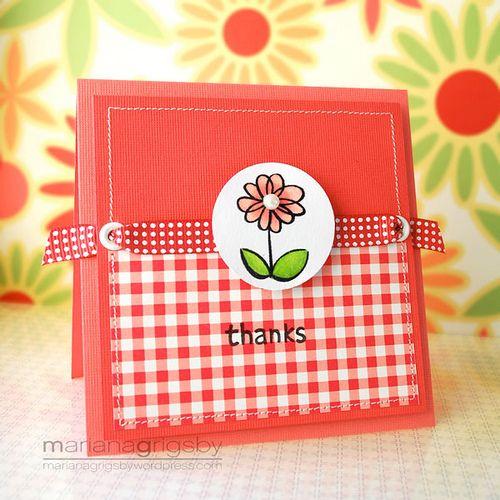 Cute little thanks card.