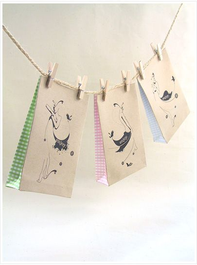 DIY Party Favour Bags on display