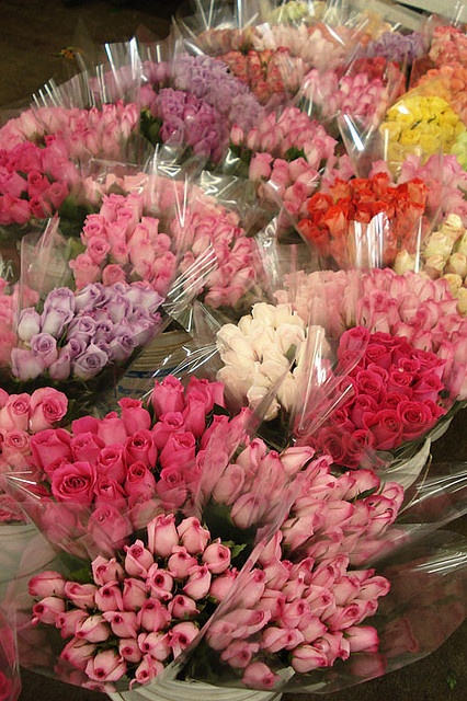 L.A. Flower Market Roses by such pretty things, via Flickr
