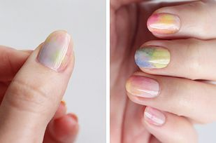 How to do watercolor nails