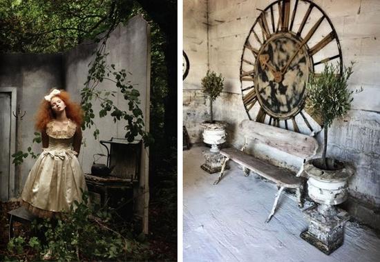 """GARDEN - """"Lily Cole"""" & garden interior"""