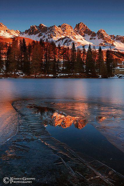 La Luce Calda Del Mattino, Dolomiti / The Warm Morning Light, Dolomites - Italy.