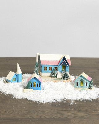 We think this vintage village set will get anyone in the holiday spirit! Get it here: www.bhg.com/...