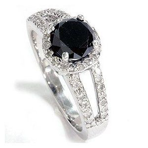 Black diamond ring.