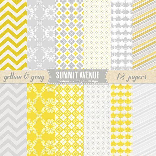 yellow & gray paper