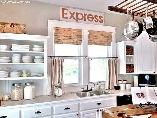 open shelves / kitchen