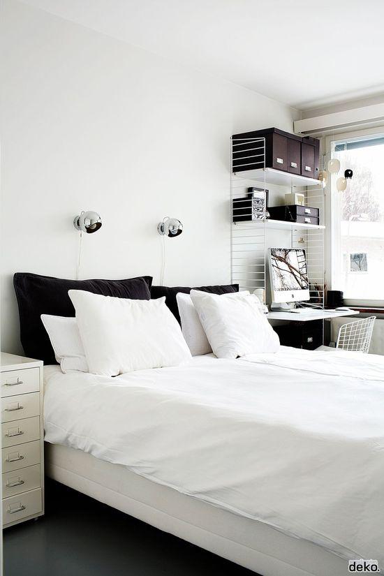 #bedroom #minimal #interiors #white #scandinavian #black