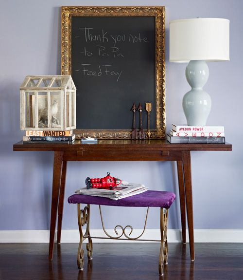 Why not custom frame a chalk board?!?