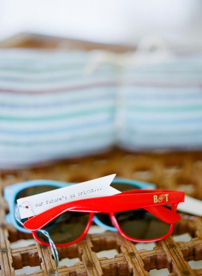 sunglass #favors for a destination wedding photography by jillianmitchell.net  Read more - www.stylemepretty...