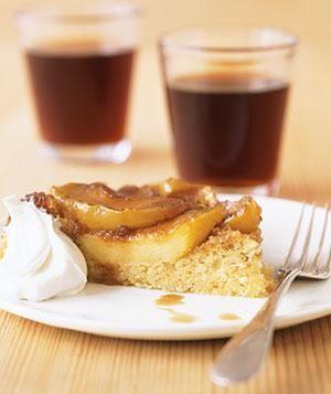Upside-Down Apple Polenta Cake recipe