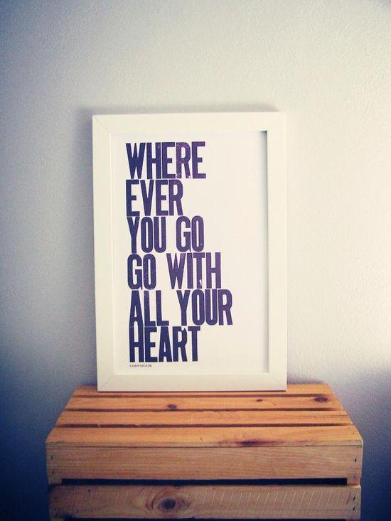Heart & travel. #words #typography #quotes #wisdom #travel